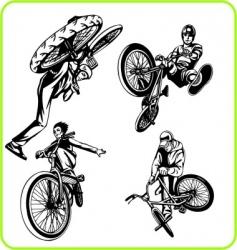 Bmx silhouettes vector