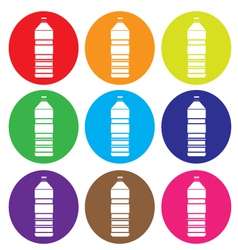 bottle icon set vector image vector image