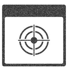Bullseye calendar page grainy texture icon vector