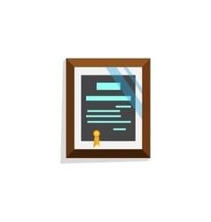Cartoon style diploma vector image
