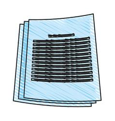 Color crayon stripe image cartoon documents with vector