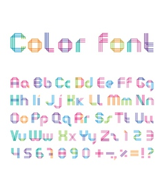 Color font from three strips vector