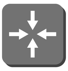 Compress arrows rounded square icon vector
