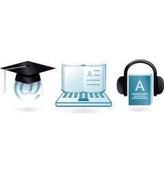 digital learning vector image vector image