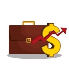 economic growth design vector image vector image
