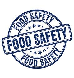 Food safety blue grunge round vintage rubber stamp vector