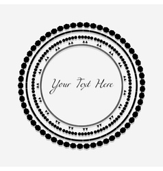 Frame with black pattern on circle for you text vector