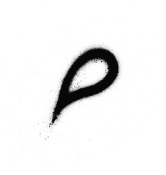 graffiti sprayed drip droplet in black on white vector image vector image