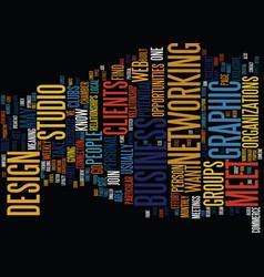 Graphic design studio text background word cloud vector