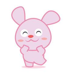 Happy rabbit cartoon collection stock vector