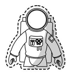 Isolated astronaut design vector
