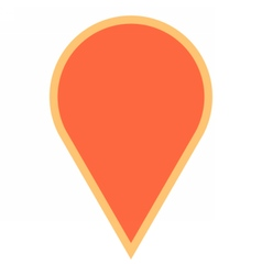 Map pin sign location icon marker point button vector image