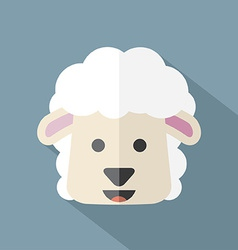 Modern flat design sheep icon vector