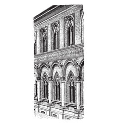 Ospedale maggiore foundation in milan vintage vector