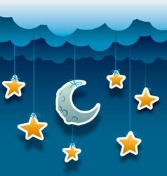 paper night vector image