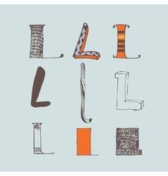 Set of colorful alphabet letters l vector