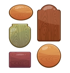 Set of wooden boards with diferent shapes vector image