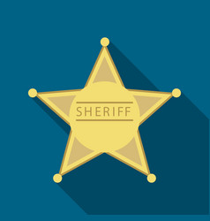 Sheriff icon flate singe western icon from the vector