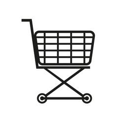 shopping cart sign black vector image vector image