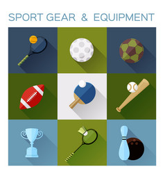 sport gear flat icon converted vector image vector image