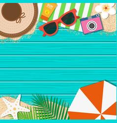 summer holiday background season vacation vector image vector image