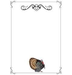 thanksgiving menu or invitation vector image vector image