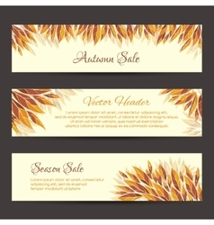 Autumn sale headers template vector
