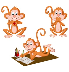 Three Monkeys vector image