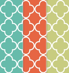 Seamless clover pattern background vector