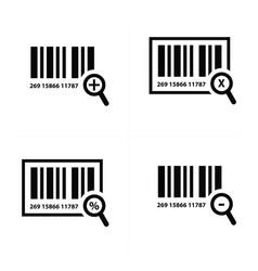 Zoom barcode design vector