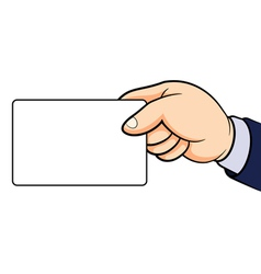 Hands holding card vector