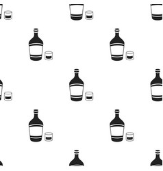 Liqueur icon in black style isolated on white vector