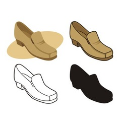 Male shoe vector