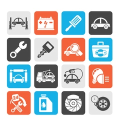 Car service maintenance icons vector image