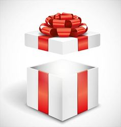 Open white gift box vector