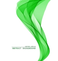 Green wavy abstract background vector