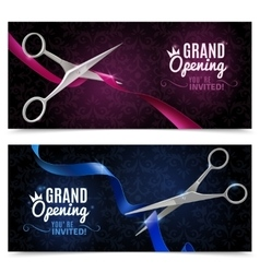 Grand opening banners set vector