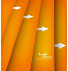 Background with orange lines vector image