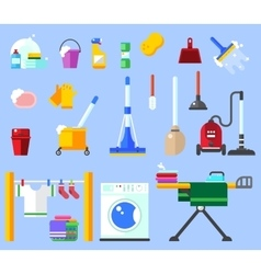 Cleaning set clean service and cleaning vector image