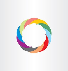 colorful technology circle sign symbol vector image vector image