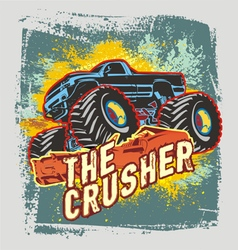 Crusher monster truck vector