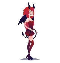 devil girl cute young woman in style of mystic vector image vector image