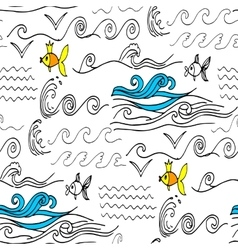 Doodles seamless pattern vector image