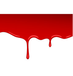 drip red blood jam paint splash and vector image