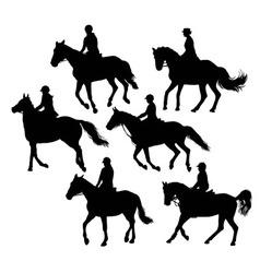 Equestrian silhouettes vector
