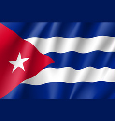 Flag cuba realistic icon vector