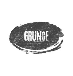 Grunge black ellipse brush shape vector