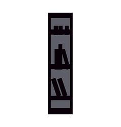 icon Bookshelf vector image