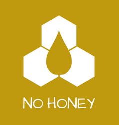 No honey label food intolerance symbols vector
