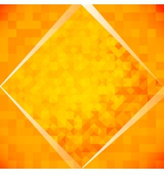 Orange mosaic tiles vector image vector image